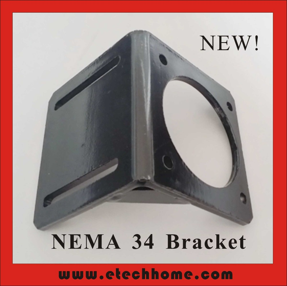 <font><b>Nema</b></font> <font><b>34</b></font> Bracket Mounting International Standard Stepper <font><b>Motor</b></font> Fixing Seat <font><b>Mount</b></font> Bracket Screws for Free image