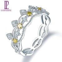 Натуральный драгоценный камень желтый белый бриллиант белое золото обручальное кольцо Solid 18 к 750 Fine Fashion камень украшения для женщин подарок