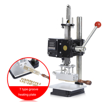 5*10cm Hot Foil Stamping Pressure Mark Logo machine 5*10cm Manual Bronzing Machine for PVC leather PU Paper Gold Stamping