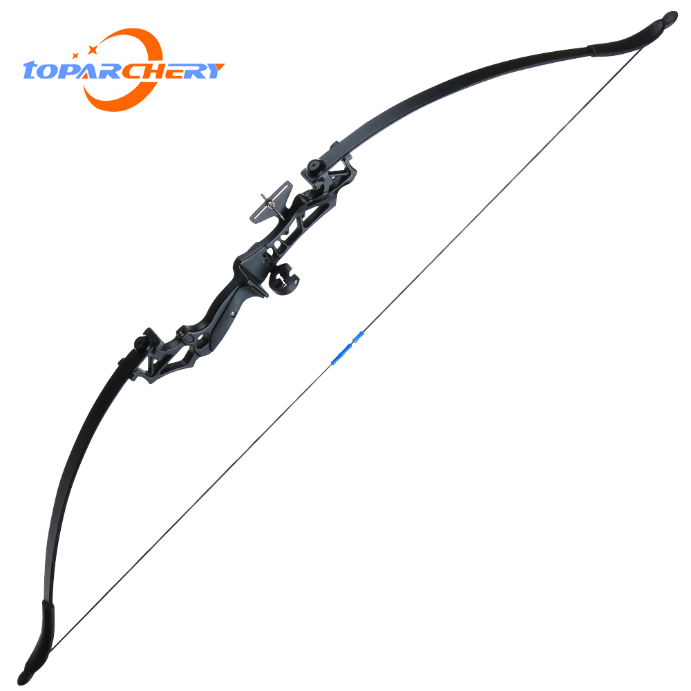 Toparchery 30/40lb Takedown Recurve Busur untuk Busur Berburu untuk Menembak Panahan Busur dengan Titik Bertujuan Outdoor Olahraga Menembak