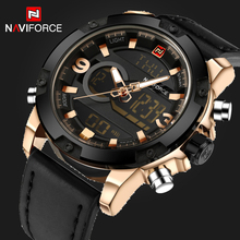 Luxury Brand NAVIFORCE Fashion Men's Quartz Analog Watches Men Sports Clock Leather Army Military Wrist Watch Relogio Masculino