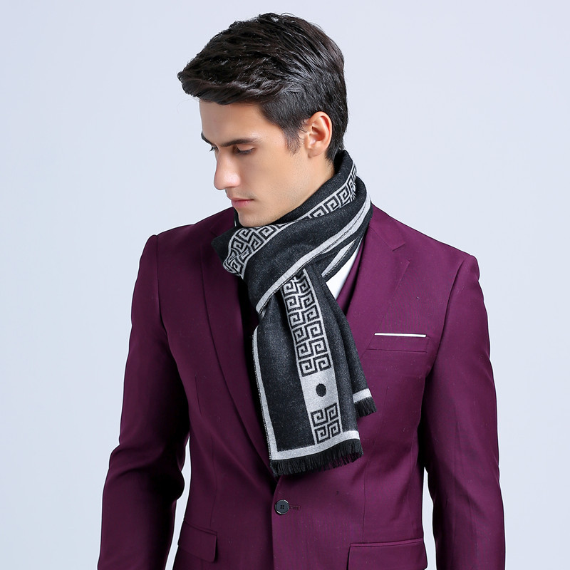 2016 Fashion Autumn Scarf Men British Plaid Scarf Cashmere ...
