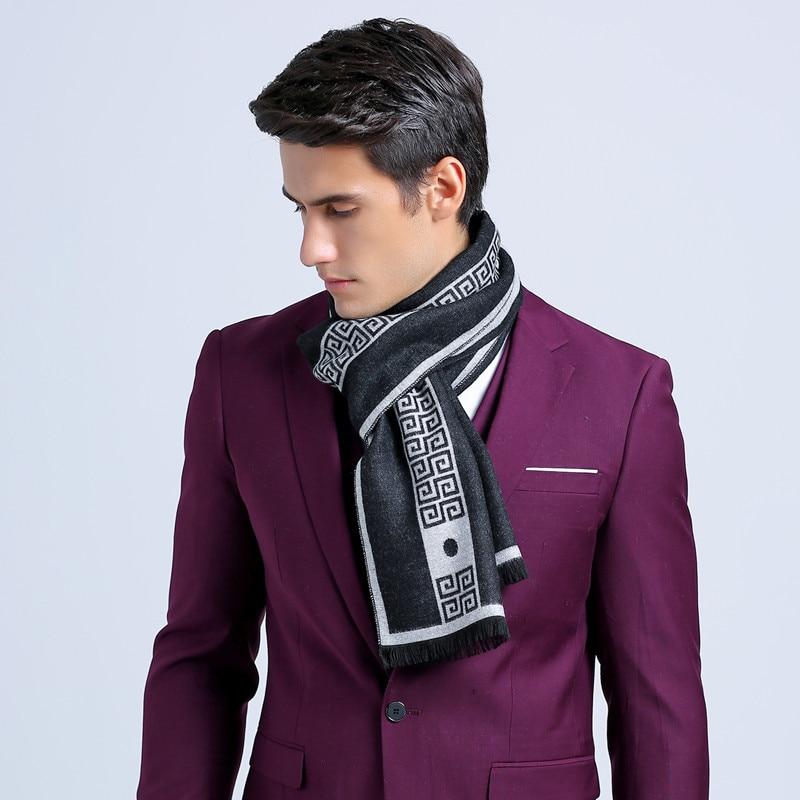 Moda otoño bufanda de los hombres bufanda británica de la tela escocesa bufanda de cachemira Boy bufandas de invierno largo de la borla del poncho del mantón de punto para hombre