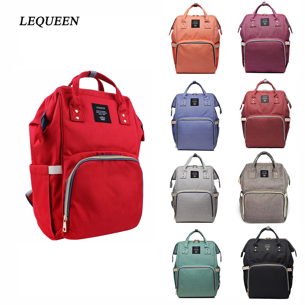 Lequeen Baby Diaper Bag Backpack For Mom Mommy Bag Large Capacity Maternity Nappy Bag Baby Travel Backpack For Stroller