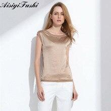 7ea724edf54 Женская блузка 2019 летние рубашки Повседневная открытая шелковая женская  блузка рубашка сексуальные белые красные Топы свободные