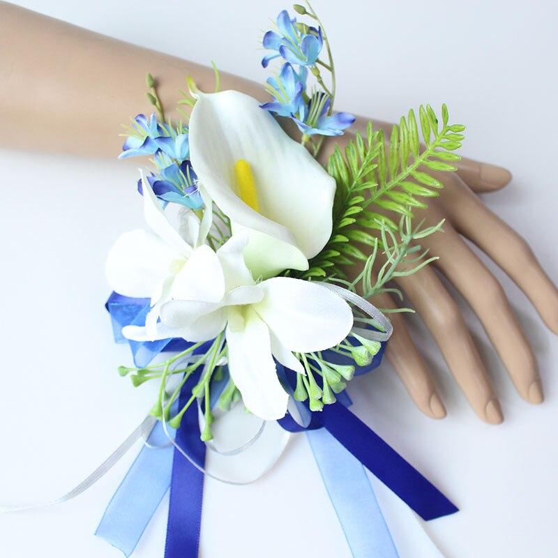 Wrist Corsage Bracelet wedding bridesmaid wrist flower  (4)