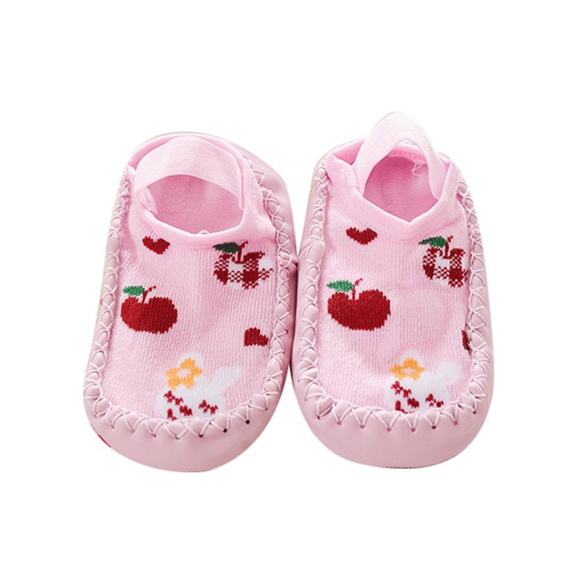 BMF TELOTUNY Casual Cartoon Kids Toddler Baby Girls Boys Cotton Anti-slip Sock Shoes Boots Slipper Socks Apr12 Drop Ship