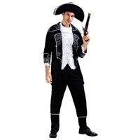 VASHEJIANG Uomini Pirate Costume di Halloween per gli uomini Captain Jack Travestimento Per Adulti Rinascimento Medievale Fancy dress