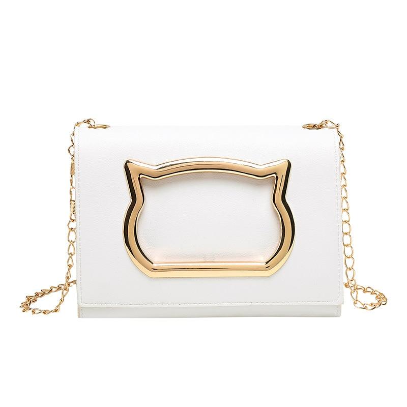 Women Shoulder Bag 2019 New Luxury Handbags Women Designer Bags Girls Small Cartoon Cat Shape Flap Messenger Bag Sac A Main
