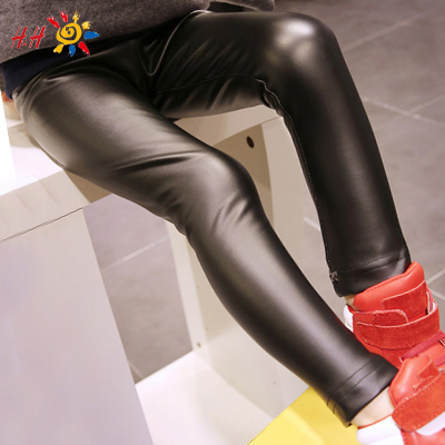 d5f7132c0ef07 2-12 Year Skinny Black Kids Leather Pants Girl Legging Baby Girls Pants  Kids Girl Pants Child Legging Fantasia Infantil GC2071