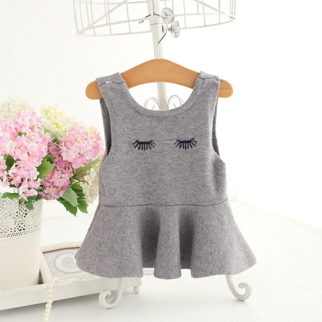 afa8d3e8a new autumn 2018 baby girl spring dress eyelash pattern girls dress ...