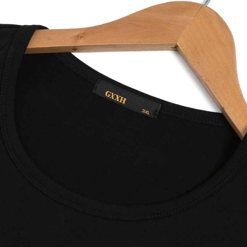 GXXH плюс размер мужские футболки новая модная футболка с принтом летняя мужская повседневная хлопковая футболка в китайском стиле футболка с коротким рукавом большой 7XL