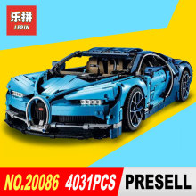 2018 New Lepin Building Blocks Technic Kompatibel 42083 Blue Chiron Racing Car 20086 Leksaker För Barn Tegel Technic Race Car Model