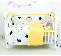 5 piezas cama de bebé parachoques 100% algodón infantil cuna ropa de cama conjunto desmontable y lavable bebé Protector de cama ropa de cama 19 colores