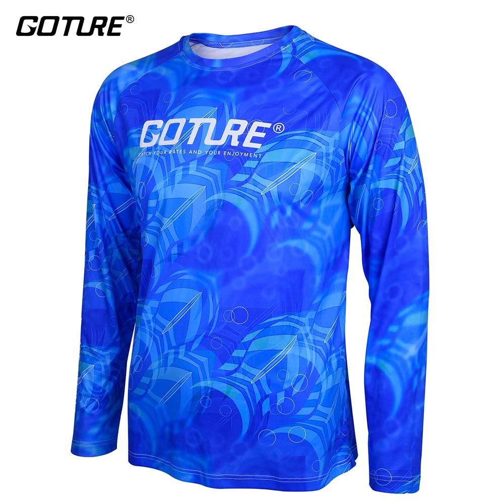 Goture Pesca Abbigliamento Manica Lunga M/L/XL/XXL Quick-Dry Traspirante Morbido Tessuto Anti-Uv T-Shirt uomo di Sport Vestiti per la Pesca