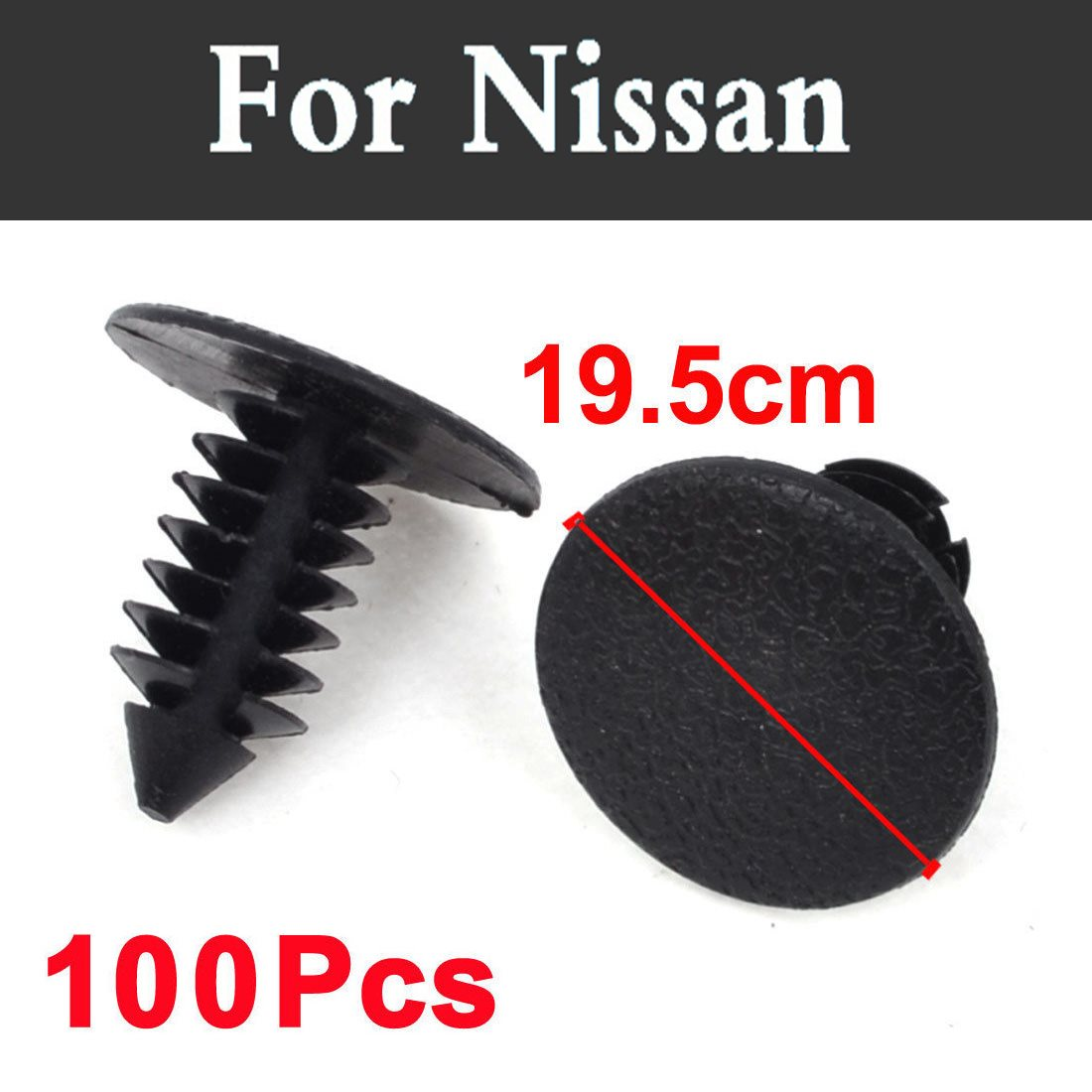 100pcs 19.5mm Hole Car Styling Plastic Rivets Fastener Clips Black For Nissan Almera Classic Altima Armada Avenir Juke Nismo
