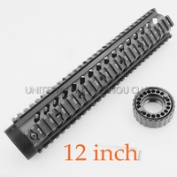 12 Inch Length Carbine Free Float Quad Rail Mounting System Rifle Handguard Fit 223 556 AR15