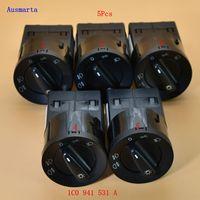 5 Pcs Headlight Fog Lights Switch 1C0941531A For Golf Passat 3BG 3B Polo T5 Bora 1C0 941 531 A