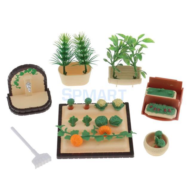1 12 Scale Dollhouse Miniature Vegetables Plants Set 12th Dollhouse