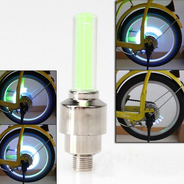 <font><b>LED</b></font> Велосипедные фары 2 шт./компл. колеса шины Клапан велосипед Аксессуары Велоспорт <font><b>LED</b></font> велосипеде Аксессуары зеленый свет