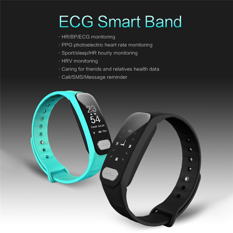 Smart WristBand R11 ECG PPG Heart Rate Blood Pressure Monitor Smart Bracelet Hourly Heart Rate Wearable Devices For iOS Android teamyo ecg d02 smart bracelet blood pressure wearable devices monitor cardiaco fitness watch tracker pedometer smart wristband
