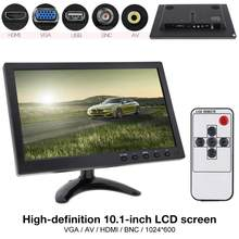 10.1 Inci HD IPS TFT LCD Monitor Mobil Mini TV Komputer 2 Channel Input Video Monitor dengan Speaker AV BNC VGA HDMI(China)