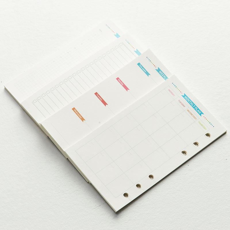 Liste Woche/täglich/monat Planer Ehrlichkeit Candy Multi Arten Inneren Papier Für Core Von Spirale Notebook