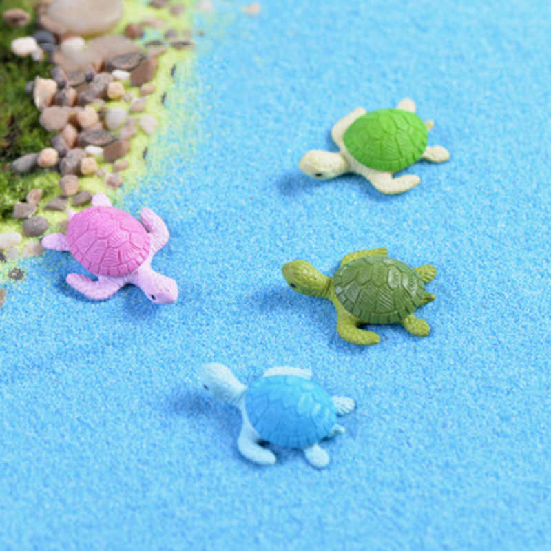 ZOCDOU 1 piece Sea Turtle Fish Tank Small Statue Home Decoration Accessories Miniature Children Toys Decor Crafts Figurine