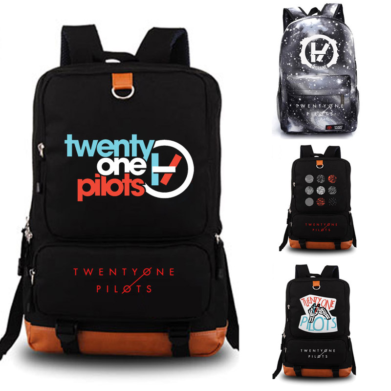 Twenty One Pilots School Bag Reflective Rucksack Student Schoolbags Travel Backpack Leisure Daily Notebook Storage Backpack Bags