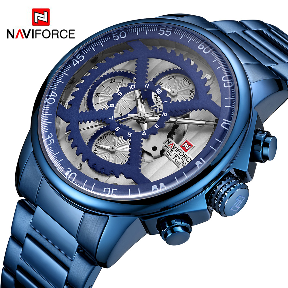 Naviforce 9150 Mens Watches Top Brand Luxury Quartz Watch Steel Men Military Waterproof Sport Wrist Watch MaleNaviforce 9150 Mens Watches Top Brand Luxury Quartz Watch Steel Men Military Waterproof Sport Wrist Watch Male