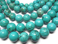 high quality 16mm 2strands turquoise beads round ball green pink hot red blue oranger black mixed jewelry beads