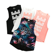 Print Sexy Sport Top Fitness Women Sleeveless Yoga Shirts Fitness Sport Shirt Women Female Sports Top Ladies T Shirt(China)