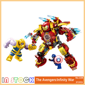Legoings Tehnic Avengers Infinity War Thanos Captain Hulkbuster Blocks Toys Hulk Buster Iron Man Armor Kid Gifts Legoings Marvel