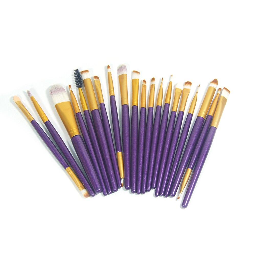 Professional 20Pcs Makeup Brushes Set Pro Powder Blush Foundation Eyeshadow Eyeliner Lip Gold Cosmetic Brush Kit