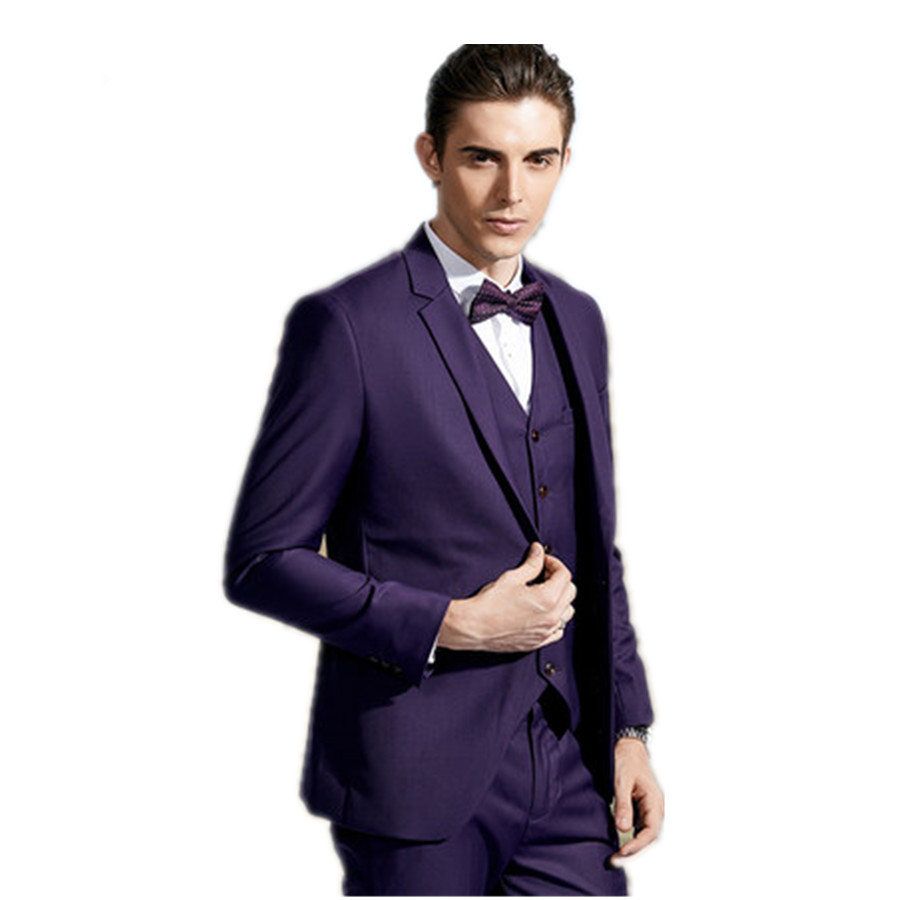 trajes de novio 2015 hombre three piece(Jacket+Pants+vest+bow tie ...