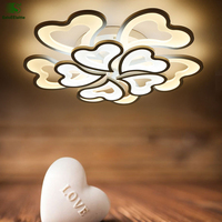 Modern Acrylic Lotus Led Ceiling Lamp Luminarias Lustre Crystal Bedroom Led Ceiling Lights Fixtures Led Ceiling
