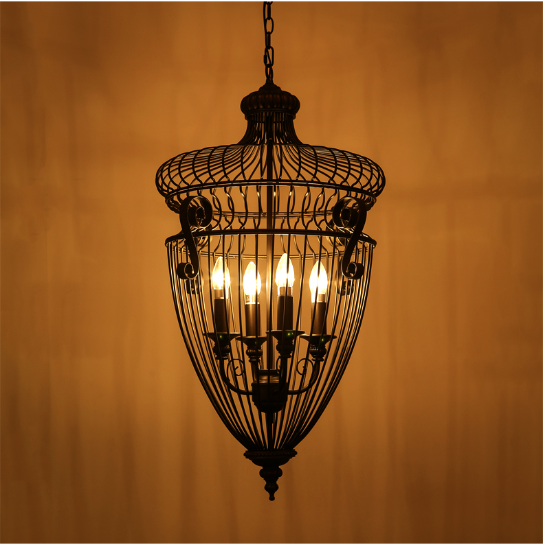 IWHD Industrial Pendant Lights Living Room Black Iron Retro Hanging Lamp Cage Vintage Pendant Light Fixrures cafe Lamparas new loft vintage iron pendant light industrial lighting glass guard design bar cafe restaurant cage pendant lamp hanging lights