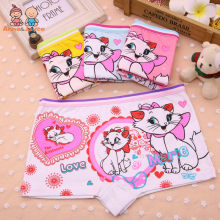 4Pcs/Lot Children's Boxer Underwear Cotton Cute Cat Girls Underwear Boxer Briefs New HTNN441(China)