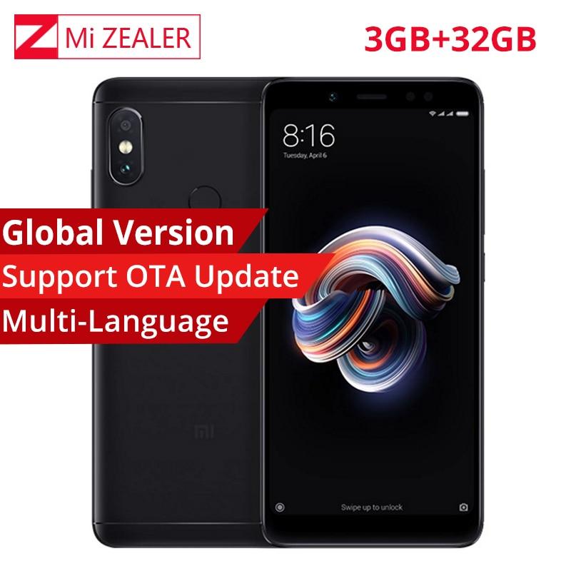 "Global Version Xiaomi Redmi Note 5 3gb Ram 32gb Rom Smartphone Snapdragon 636 Octa Core 2160x1080 5.99"" 4000mah12mp Dual Camera"