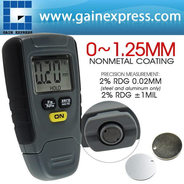 Digital LCD Coating Thickness Gauge Tester Car Automotive Paint Thickness Meter 1.25mm Iron Aluminum Base  цены