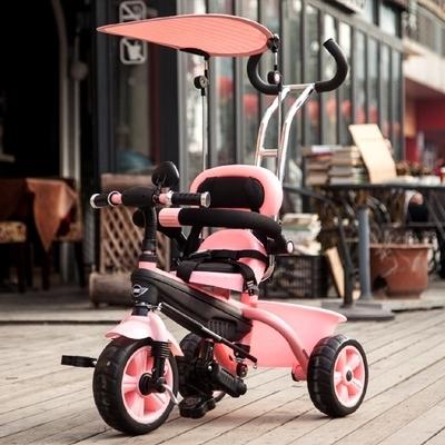 Niños triciclo bebé bicicleta carro 1-3-5 años de edad los niños de forma gratuita ruedas carro de niño