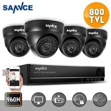 ANNKE 8CH 960 H HDMI DVR 800TVL CCTV Domo Al Aire Libre Cámara de Vídeo de la Seguridad Casera del Sistema de Vigilancia Kits