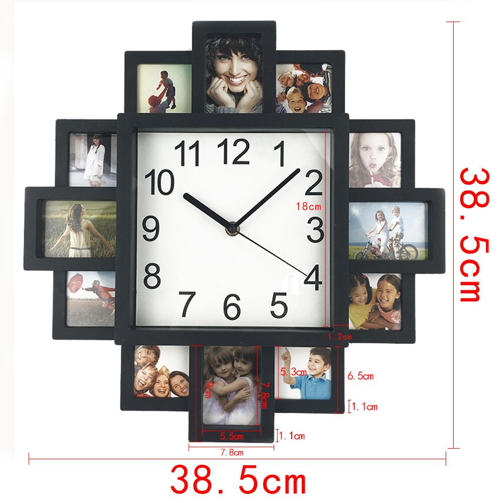 2017 new diy wall clock modern design diy photo frame clock 2017 new diy wall clock modern design diy photo frame clock plastic art pictures clock unique klok home decor horloge in wall clocks from home garden on amipublicfo Gallery