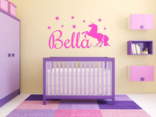 Unicorn Star Girls Room Wall Stickers Decor Customized Name Monogram Wall Decal Hot Selling Wall Tattoo High Quality Mural SA589