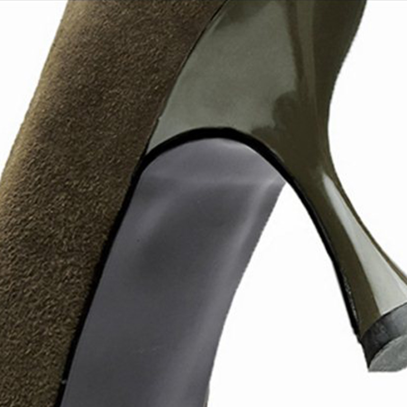 green 42 Fino 2 Mujeres Bombas Black Tacón Zapatos Calzado Cuero black Jojonunu Alto Punta Las De 34 En Patchwork Partido Mujer Oficina Tamaño Señora 1 2 Talón Genuino wEETpqS