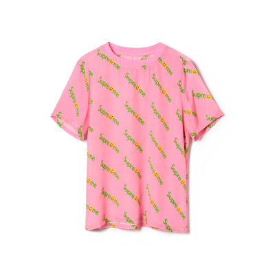 2019 nueva Camiseta corta, cuello redondo para mujer, Top suelto, mangas cortas de seda con letras impresas - 5