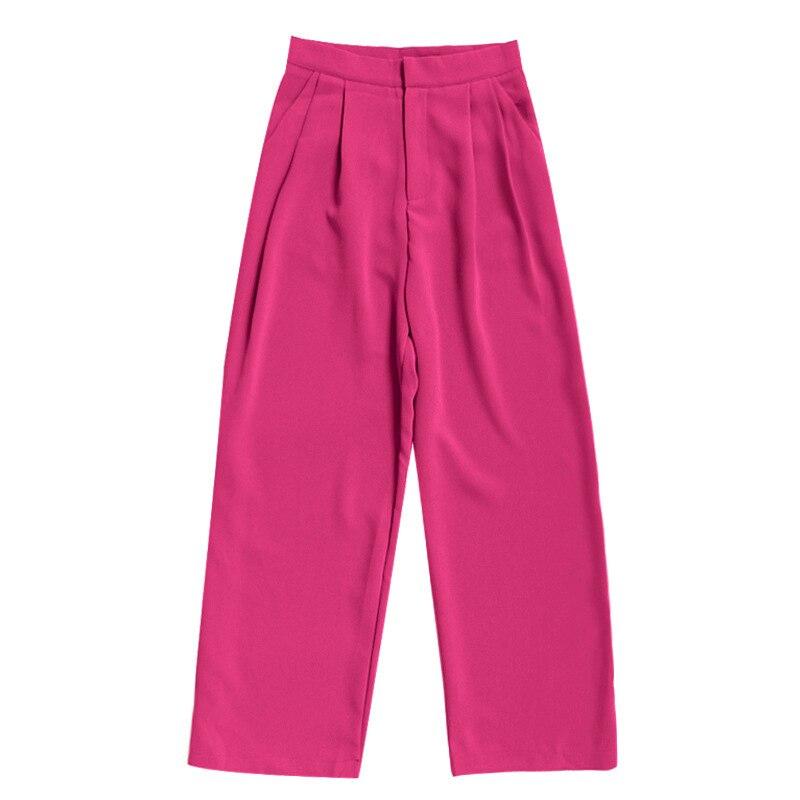 Vgh primavera calças femininas de cintura alta