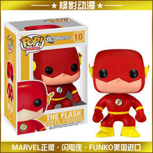 Genuine FUNKO POP 10cm DC Comics The Flash action figure Bobble Head Q Edition  new box for Car Decoration