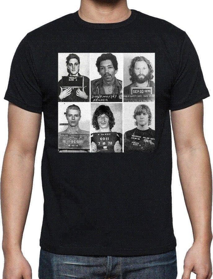 2017 Mens RockNroll Mugshot T Shirt Rock Legends Arrestato Tutti I Colori E Diioni Printed Mens O-Neck Tee Shirts ...