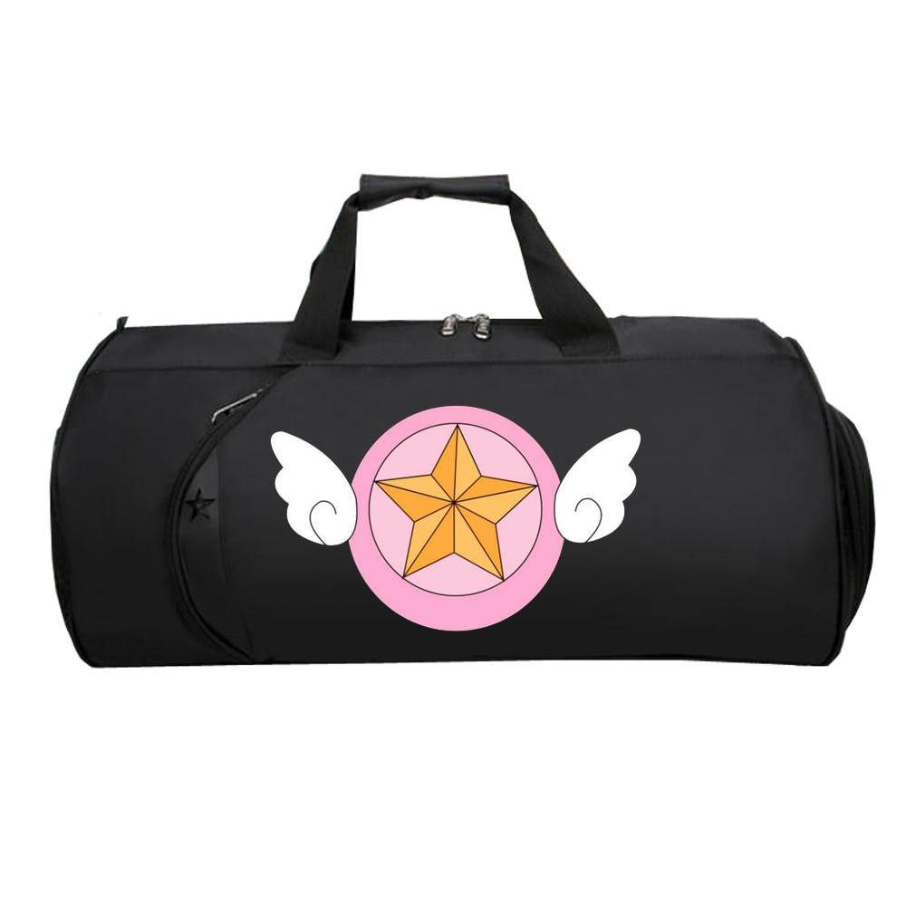 Men Travel Luggage Bag Handbag Luggage Multifunction Suitcase Large Tote Shoulder Bag For Cartoon Anime Cardcaptor Sakura